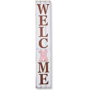 LARGE 8-Piece Seasonal Holiday Easter Outdoor Wooden Porch Greeter WELCOME Sign