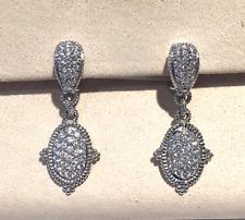 """Judith Ripka """"Arielle"""" Diamond Drop Earrings in 18K White Gold"""
