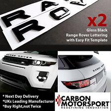 Range Rover Piano Noir Lettres Lettrage Sport Vogue Evoque L322 l405 l498