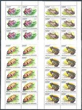 Burundi 2011 Fauna. Frogs, 4 FULL SHEETS (10 sets). MNH
