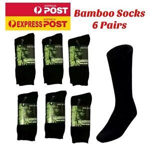 Mens Work Socks Heavy Duty Cushion Bamboo Socks Extra Thick Winter Socks 6 Pairs