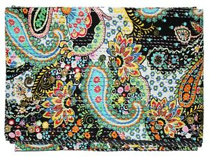 Bedspread Bedding Blanket Throw New Handmade Cotton Paisley Designs Kantha Quilt