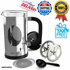 Stainless Steel French Press 34oz Tea Coffee Maker with Bonus Filter and Spoon