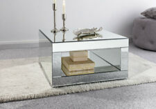 Stunning Reflective Mirrored Coffee Table With Stylish Bevelled Edges
