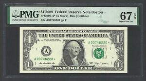 United State - Federal Reserve Note 1$ 2009 Fr3000-A* (A Block) Grade 67