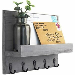 Decorative Key and Mail Holder for Walls Stylish Rack with Hangers Simplify Beau