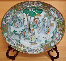 Chinese Famille Verte Large Serving Platter