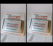 Two(2) REALISTIC Cordless Cassette Head Cleaner and Demagnetizer MADE IN U.S.A.