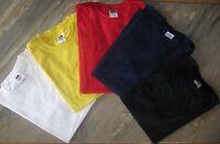 Fruit of the Loom T-Shirt rot blau gelb weiß schwarz Gr. S, M, L, XL, XXL NEU!!!