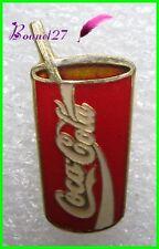 Pin's pins Badge Coca Cola un verre avec une paille #H3