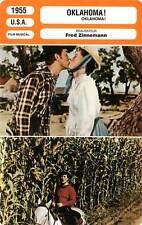 FICHE CINEMA : OKLAHOMA - MacRae,Grahame,Nelson,Zinnemann 1955