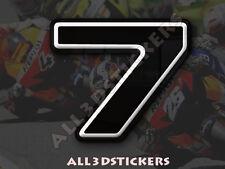 Pegatina Numero 7 3D Color Negro Tamaño 25mm
