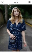 ASOS Tall Navy Sparkly Sequin Kimono Wrap Dress Size 18 20 Curve Plus Size