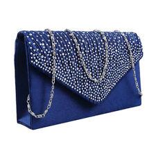 Womens Crystal Clutch Evening Bag Wedding Bridesmaid Handbag Bridal Accessories