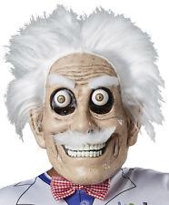 Mad Scientist Googly Eyes Mask Adult Professor White Hair Halloween