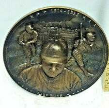 The Sultan of Swat Babe Ruth Heavy Glass Baseball Collector Plate 3D Features 76