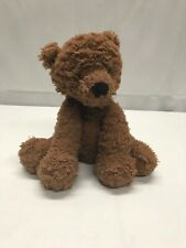 "Jellycat London Light Brown Teddy Bear Soft Fluffy Lovey 9"" Chocolate Toy"