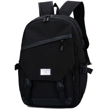 Men Women Travel Backpack USB Zip Up Rucksack Casual Buckle Wide Strap Midi Bags