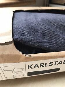 New Ikea Cover for Karlstad Armchair 71x80x80cm in Sivik Dark Grey 901.186.87