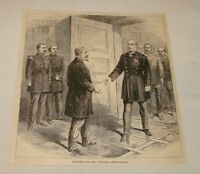 1886 magazine engraving ~ NAPOLEON III + EMPEROR WILLIAM