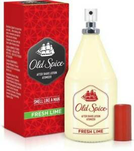 Old Spice After Shave Lotion - FRESH LIME ATOMIZER FOR MEN Aftershave -150 ML