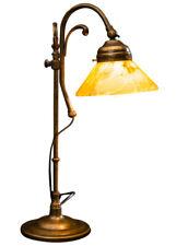 Tischlampe 42cm Nachttischlampe Messing Lampe im Antik-Stil Tischleuchte Leuchte