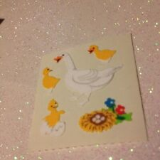 *1 Square Vintage Sandylion Geese Fuzzy Stickers