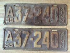 Matching Pair of 1935 Minnesota Vehicle License Plates - MN - Vintage - 37-240