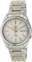 Seiko 5 Silver/Gold Tone Stainless Steel Automatic Watch SNKL47K1
