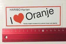 Aufkleber/Sticker: Haribo Harten I Love Oranje (060616177)