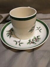 Spode CHRISTMAS TREE Espresso Cup & Saucer