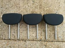 3 x NISSAN MICRA 01-10 BLACK REAR HEADRESTS BACK LEFT RIGHT & CENTRE, FABRIC