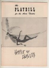 "Truman Capote   ""House of Flowers""   Playbill  1955  Pearl Bailey"