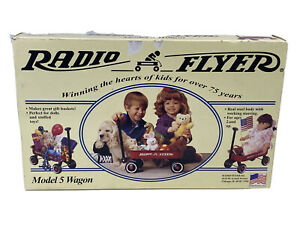 Radio Flyer Model 5 wagon miniature 12X7 new box pull toy red USA basket classic