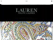 Ralph Lauren Cayden White TURQUOISE PAISLEY Full Queen Duvet Cover + Pcases