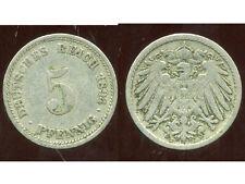 ALLEMAGNE 5  pfennig  1894 D  ( bis )