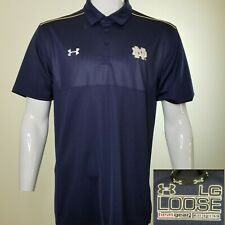 Under Armour Large University of Notre Dame Loose Heatgear Polo Navy