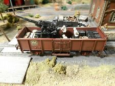 HO Roco Minitanks 2nd Panzer Artillery Railway Car A877 Hand Painted