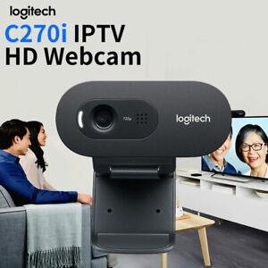 Logitech C270i 720P Webcam IPTV HD PC Mini Camera Built-in Mic USB 2.0 UK E9B3