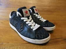 c4c15615aa0d4 Converse Dwayne Wade Black Leather Trainers Size UK 6 EUR 40