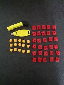 Playmobil Verbinder X system Rot Gelb Mit Schlüssel