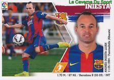 14 INIESTA  ESPANA FC.BARCELONA STICKER LIGA 2016 PANINI