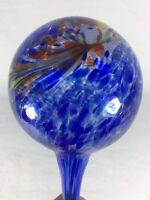 "Watering Bulbs Aqua Globe Art Glass Indoor Large Blue Garden  11"""