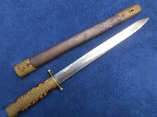 Very Rare Long Blade Original Chinese Nationalist Army Dagger And Scabbard