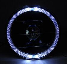 "5.75"" Black Halogen H4 Ice Halo Angel Eye Headlight Conversion w/ Bulbs Pontiac"