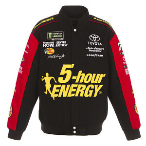 Martin Truex JR 5 Hour Energy Twill Cotton Jacket Black Red JH Design