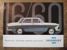 WOLSELEY 16/60 orig 1969 UK Mkt Sales Brochure - #2402/D