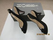 LADIES BLACK LEATHER/SUEDE PAIR OF SHOES-LIGHTLY USED