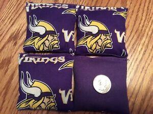 "4 Mn Vikings (purple Back)  Mini cornhole, bean bags, 3"" X 3"" double stitched"