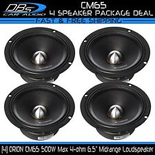 Orion CM65 6.5″ Midrange Bullet Loud Speaker 2000W 4 ohm Pro Car Audio 2 Pair